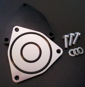 Piranha Racewerks stock turbo blow-off valve block off plate